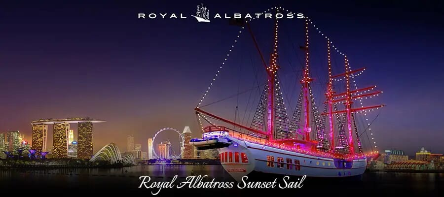 Royal Albatross Sunset Sail, places to visit in singapore